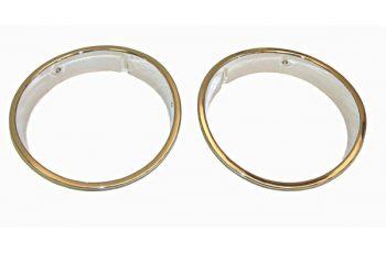 Στεφάνι Φαναριών χρωμίου Wrangler   97-06 (ζευγάρι)