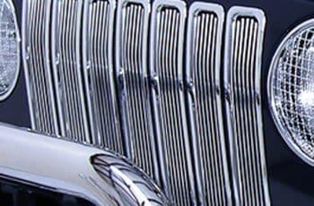 Ενθετα αλουμίνιο γυαλισμένα σετ 7 τεμ Wrangler  98-06