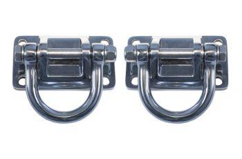 Σημεία στήριξης χρωμίου D-Ring(ζευγάρι)