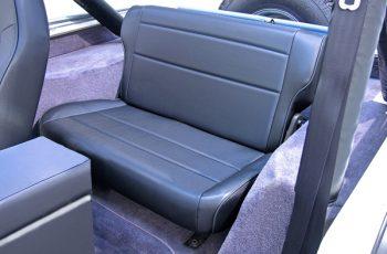Αναδιπλούμενα πίσω καθίσματα μαύρα Wrangler / CJ 86-95