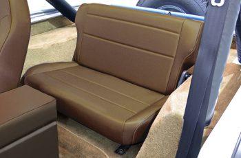 Αναδιπλούμενα πίσω καθίσματα καφέ Wrangler / CJ 86-95