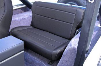 Αναδιπλούμενα πίσω καθίσματα Black Denim Wrangler / CJ 86-95