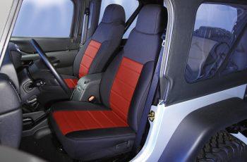Καλύματα Neopren καθισμάτων εμπρός μαύρο/ κόκκινο  Wrangler 91-95  (ζευγάρι)