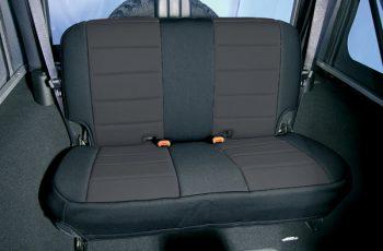 Κάλυμα Neopren  καθισμάτων πίσω μαύρο/ μαύρο  Wrangler/CJ 80-95