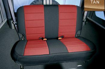 Κάλυμα Neopren  καθισμάτων εμπρός μαύρο/ μπεζ Wrangler/CJ 80-95