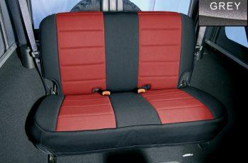 Κάλυμα Neopren  καθισμάτων πίσω μαύρο/ γκρί  Wrangler/CJ 80-95