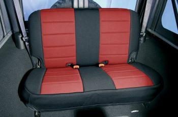 Κάλυμα Neopren  καθισμάτων πίσω μαύρο/ κόκκινο  WranglerYJ /CJ 80-95