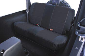 Κάλυμα καθισμάτων πίσω Polly Cotton μαύρο/ μαύρο  Wrangler /CJ 80-95