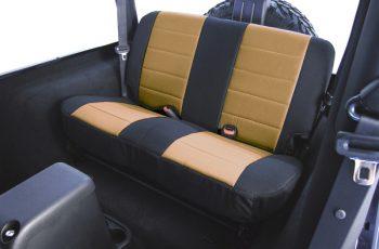 Κάλυμα καθισμάτων πίσω Polly Cotton μαύρο/ μπεζ  Wrangler /CJ 80-95