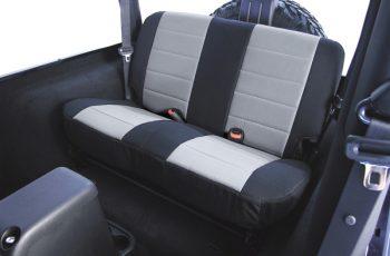 Κάλυμα καθισμάτων πίσω Polly Cotton μαύρο/ γκρί  Wrangler/CJ 80-95