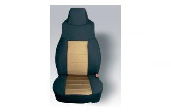 Καλύματα καθισμάτων εμπρός Polly Cotton μαύρο/ μπεζ Wrangler 97-02   (ζευγάρι)