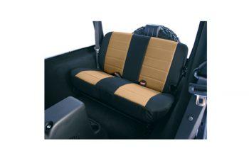 Κάλυμα καθισμάτων πίσω Polly Cotton μαύρο/ μπεζ  Wrangler 97-02