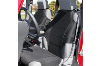 Προστατευτικό καθισμάτων Neopren μαύρο Wrangler  07-08  (ζευγάρι) Με πλαϊνά Air Bags