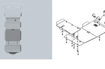 Ποδιά Κινητήρα & Σασμάν Nissan Navara D22 Αλουμινίου
