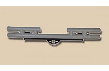 Πίσω σωληνωτός προφυλακτήρας Titanium με υποδοχή κοτσαδόρου Wrangler 87-06