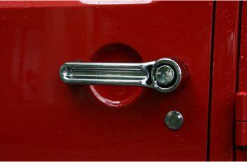 Κάλυμα χερουλιών πόρτας χρωμίου 07-09 Wrangler 4D  5pcs