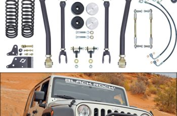 Currie JK 2 or 4 Door 4 inch Off Road Suspension System W/ Adjustable Front and Rear Sway Bar Links