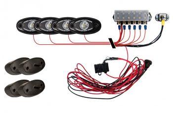 A-Series Rock Light Kit - 4 Lights (Cool White)