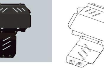 Ποδιά Κινητήρα Ford Ranger μεταλλική
