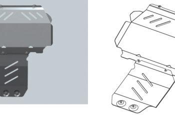 Ποδιά Κινητήρα Ford Ranger Αλουμινίου